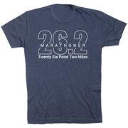 Running Short Sleeve T-Shirt - Marathoner 26.2 Miles