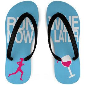 Running Flip Flops Run Now Wine Later