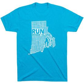 Running Short Sleeve T-Shirt - Rhode Island State Runner
