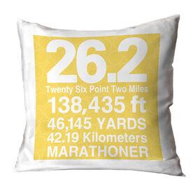 Running Throw Pillow 26.2 Math Miles