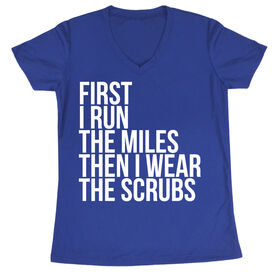 Women's Running Short Sleeve Tech Tee - Then I Wear The Scrubs