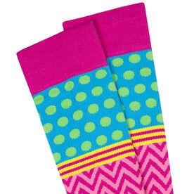 Crazy for Color Compression Knee Socks