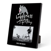 Running Photo Frame - Happiness Is Running With Your Dog