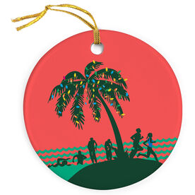 Triathlon Porcelain Ornament Tropical Triathlon