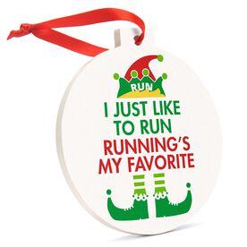Running Round Ceramic Ornament - Running's My Favorite