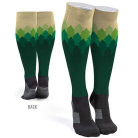Running Printed Knee-High Socks - Trails