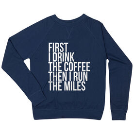 Running Raglan Crew Neck Sweatshirt - Then I Run The Miles