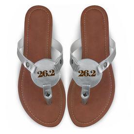 Running Engraved Thong Sandal - Simply 26.2