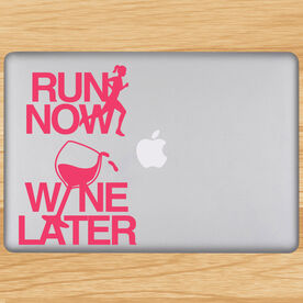 Run Now Wine Later Removable GoneForaRunGraphix Laptop Decal