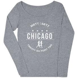 Women's Runner Scoop Neck Long Sleeve Tee - Chicago 26.2 (MRTT/SRTT)