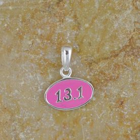 Sterling Silver and Pink Enamel Mini 13.1 Half Marathon Charm