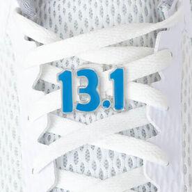 LaceBLING Shoelace Charm - 13.1 Half Marathon (Blue)