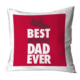 Running Throw Pillow Best Dad Ever