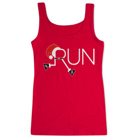 Running Women's Athletic Tank Top - Let's Run For Christmas