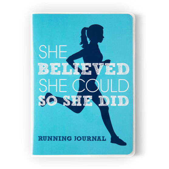 GoneForaRun Running Journal - She Believed She Could So She Did