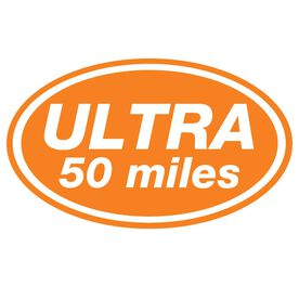 ULTRA 50 Miles Oval Running Vinyl Decal