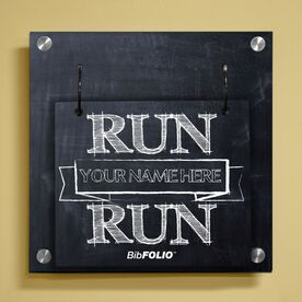 Personalized Chalkboard Run Your Name Run Wall BibFOLIO® Display