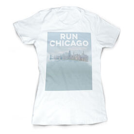 Vintage Running Fitted T-Shirt - Chicago Sketch