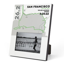 Running Photo Frame - Personalized San Francisco Map