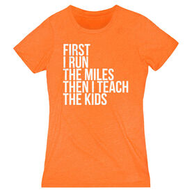 Women's Everyday Runners Tee - Then I Teach The Kids