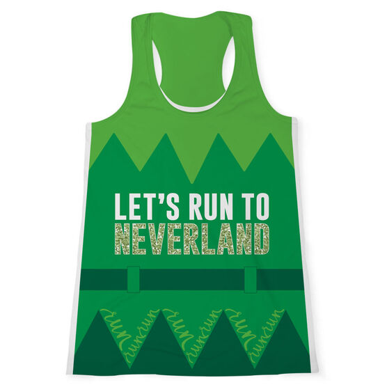 Women's Performance Tank Top - Let's Run To Neverland