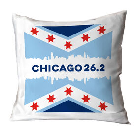 Running Decorative Pillow - Chicago 26.2
