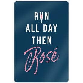 "Running 18"" X 12"" Wall Art - Run All Day Then Rosè"