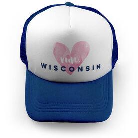 Running Trucker Hat Run Wisconsin