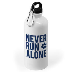 Running 20 oz. Stainless Steel Water Bottle - Never Run Alone (Bold)