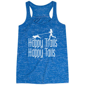 Flowy Racerback Tank Top - Happy Trails Happy Tails