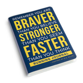 GoneForaRun Running Journal - Braver Stronger Faster