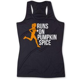 Women's Performance Tank Top - Runs On Pumpkin Spice