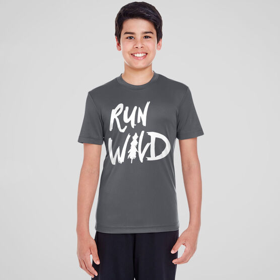 Men's Running Short Sleeve Tech Tee - Run Wild Sketch
