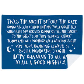 Running Premium Blanket - Twas The Night Before The Race (Simple)