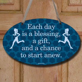 Each Day Is A Blessing Decorative Oval Sign