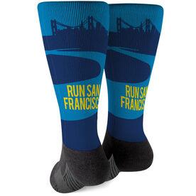 Running Printed Mid-Calf Socks - San Francisco City Skyline