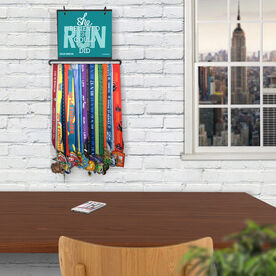 BibFOLIO+™ Race Bib and Medal Display She Believed She Could So She Did