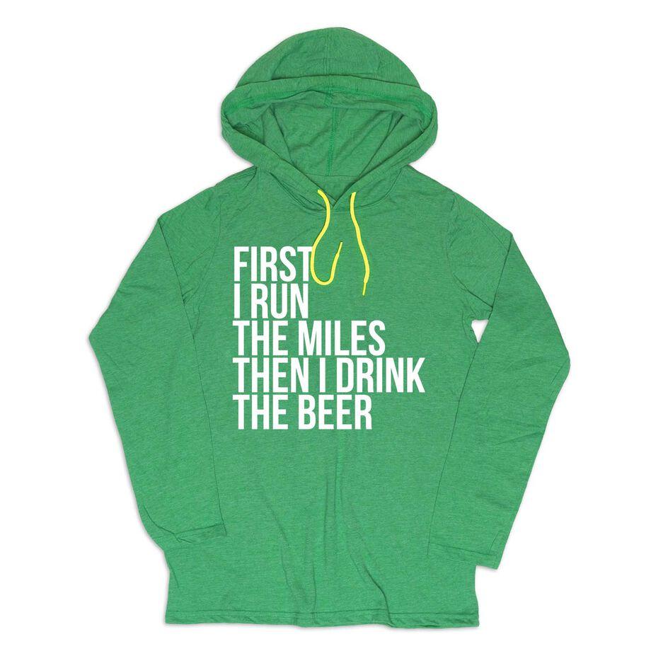 Men's Running Lightweight Hoodie - Then I Drink The Beer
