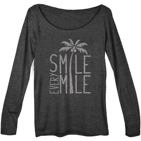 Women's Runner Scoop Neck Long Sleeve Tee Smile Every Mile