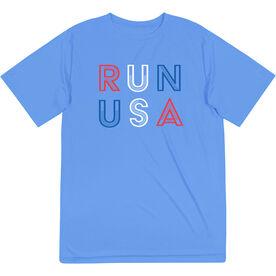 Men's Running Short Sleeve Performance Tee - Run USA