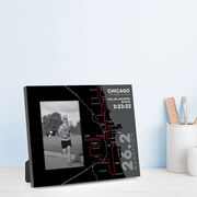 Running Photo Frame - Personalized Chicago Map