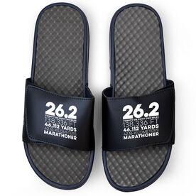 Running Navy Slide Sandals - 26.2 Math Miles