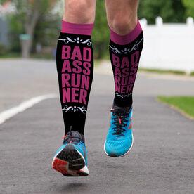 Running Printed Knee-High Socks - Bad Ass Runner