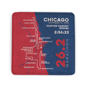 Running Stone Coaster - Chicago 26.2 Route