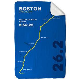 Running Sherpa Fleece Blanket - Boston 26.2 Route