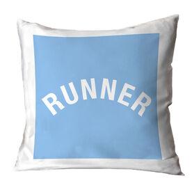 Running Throw Pillow - Runner Arc
