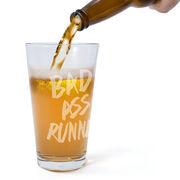 Running 16 oz Beer Pint Glass Bad Ass Runner