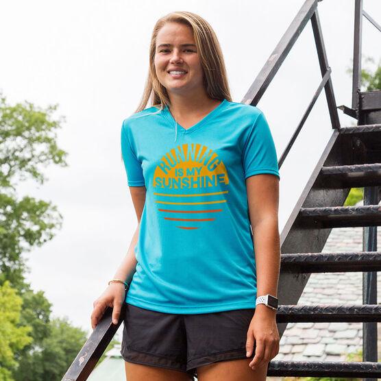 Women's Short Sleeve Tech Tee - Running is My Sunshine