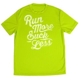 Men's Running Short Sleeve Tech Tee Run Club Run More Suck Less (Script)