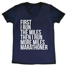 Women's Running Short Sleeve Tech Tee - Then I Run More Miles Marathoner